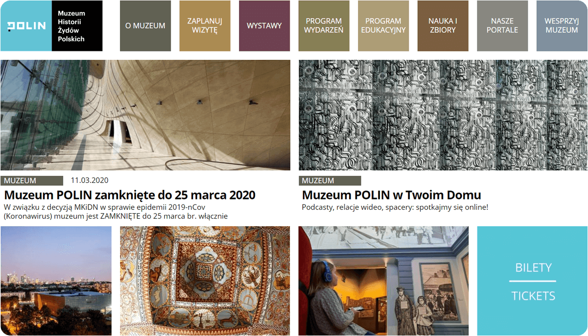 POLIN Museum website